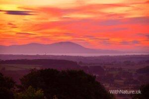 Sunset over Scottish Mountains