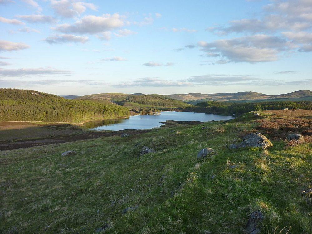Auchintaple Loch in Angus