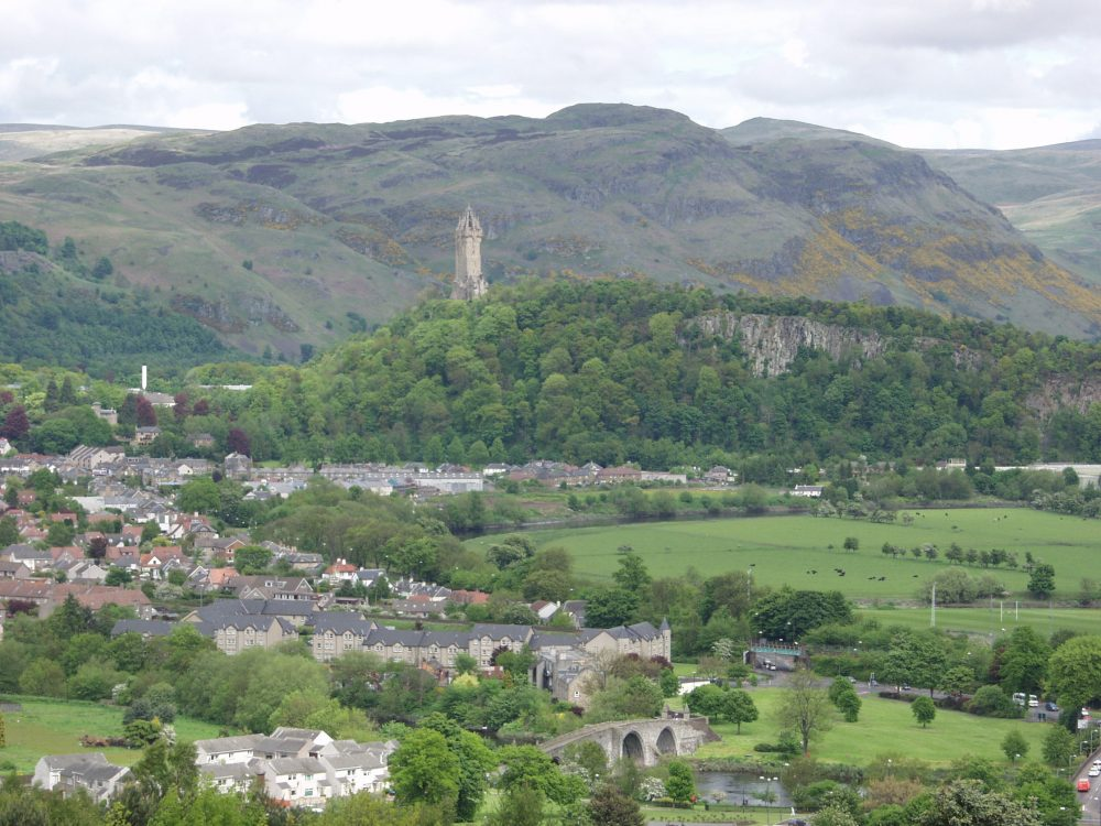 Stirling and the Wallace Monument